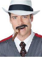 Men's Thin Black Gangster Moustache Costume Accessory