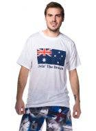 Men's Living the Dream Australian Flag T-Shirt  - Main View