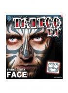 Tribal Print Temporary Face Tattoo Makeup Main Image