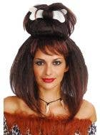 Cave Girl Brown Costume Wig Front View