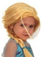 Ice Queen Elsa Girl's Plaited Blonde Book Week Costume Wig