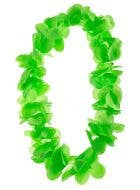 Hawaiian Neon Green Tropical Flower Lei Costume Accessory