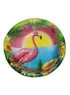Hawaiian Themed Flamingo Party Bowls - 10 Pack