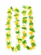 Novelty Green And Yellow Hawaiian Costume Lei Accessory - 2 Pack