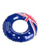 90cm Australia Flag Novelty Inflatable Swim Ring View 1