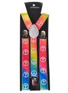 Peace Sign Rainbow Costume Suspenders