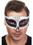 Men's Spider Eyes Day of the Dead Masquerade Mask