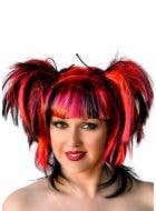 Black And Red Devil Halloween Costume Wig