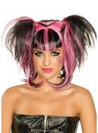 Dark Angel Black and Pink Halloween Wig