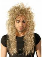 80's Crimped Blonde Rocker Men's Wig