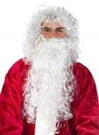 Curly Budget Santa Beard and Wig Set - White