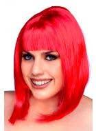 Women's Flame Red 1960's Mod Bob Costume Wig