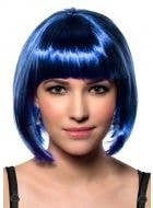 Women's Dark Royal Blue Short Bob Costume Wig Front