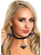 Leather Bat Braided Halloween Choker