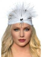 Gatsby Soft White Feather Flapper Headband