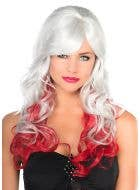 Ada Deluxe Grey and Red Fashion Wig