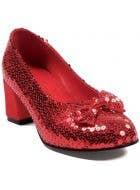 Judy Women's Sequined Red Platform Heel Costume Shoes