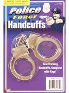 Silver Metal Novelty Handcuffs Costume Accessory