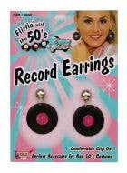 1950's Rock N Roll Women's Vinyl Record Earrings Image 1