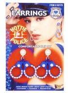Hottie Police Handcuffs Earrings