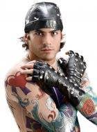 Studded Fingerless Gloves Bad Biker Costumes Accessory