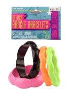 Neon fluro coloured costume bangles 80's bracelets