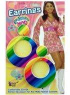 60's Rainbow Mod Earrings