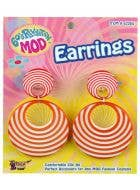 60's Orange Swirl Mod Earrings