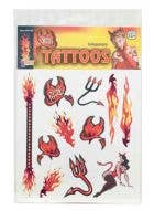 Sexy Devil Halloween Temporary Tattoos