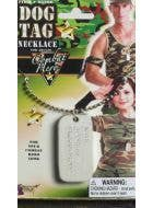 Military Dog Tag Costume Accessory