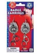 Police Officer Badge Earrings