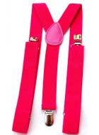 1980's Punk Rock Neon Pink Suspenders