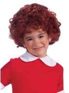 Orphan Girl Kids Curly Red Annie Wig