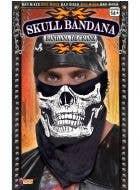 Skull Face Bandanna Bad Biker Costume Accessory