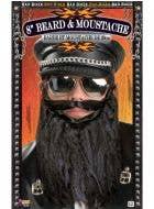 Bad Biker Black Beard and Moustache Costume Accessory