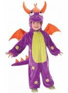 Toddler Purple Monster Kid's Dragon Costume Front View