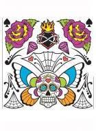 Sugar Skull Day Of The Dead Temporary Tattoo's