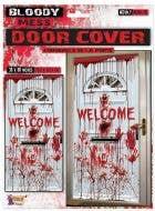 Bloody Mess Welcome Halloween Door Cover