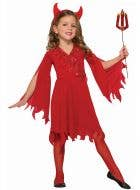 Devil Girls Red Halloween Fancy Dress Costume
