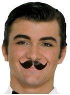 Human Hair Englishman Winged Black Moustache