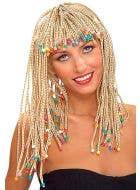 Beaded Blonde Cornrow Wig