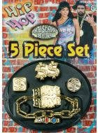 Big Daddy Pimp 5 Piece Costume Jewellery Set