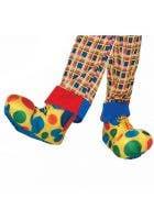 Adults Novelty Rainbow Polka Dot Clown Shoe Covers