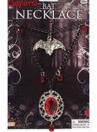 Vampiress Bat Necklace Halloween Jewellery