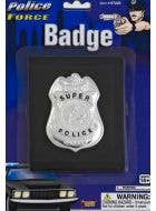 Police Uniform Badge on Wallet Costume Accessory