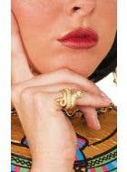 Egyptian Goddess Cleopatra Gold Snake Ring