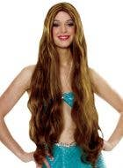 Atlantis Women's Long Brown Costume Wig