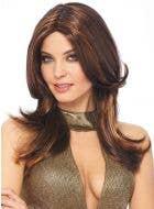 Layered Dark Brown Women's 1970's Costume Wig