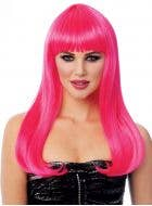 Mistress Deluxe Women's Long Pink Costume Wig
