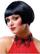 Women's Shirt Black Flapper Costume Wig